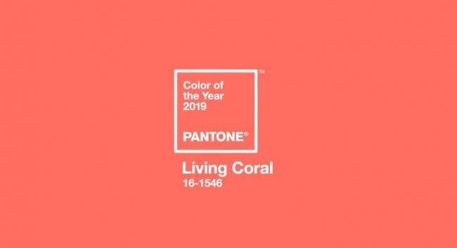 cor do ano da Pantone de 2019 living coral