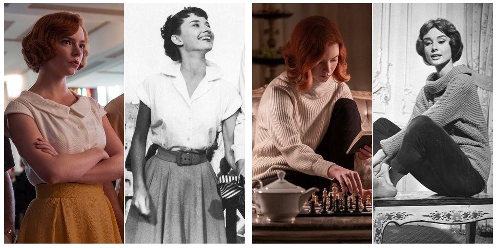 Beth Harmon e Audrey Hepburn