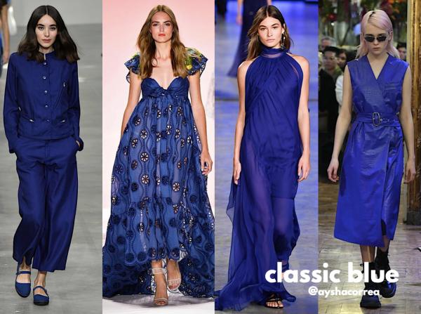 Classic blue em vários estilos- cor do ano da Pantone