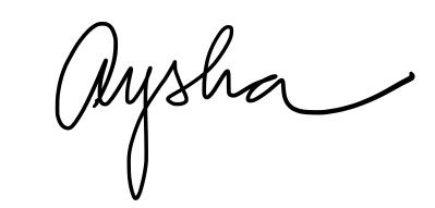 assinatura Aysha Correa